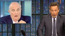 Seth Meyers Reveals 'Weirdest Thing' About Rudy Giuliani's Reported Podcast Idea