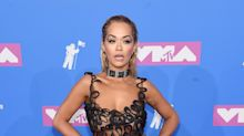 Rita Ora hits VMAs red carpet in see-through Jean Paul Gaultier dress