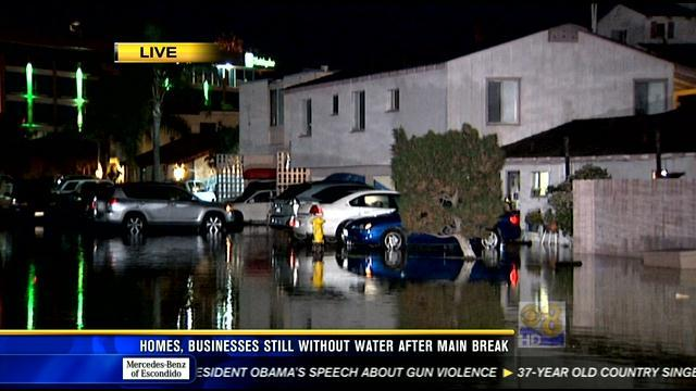 11AM UPDATE   Homes, businesses still without water after main break