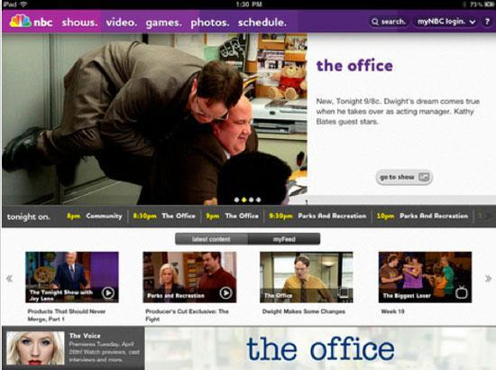 NBC, TNT and TBS iPad apps add full-length episodes, won't bring back Steve Carell