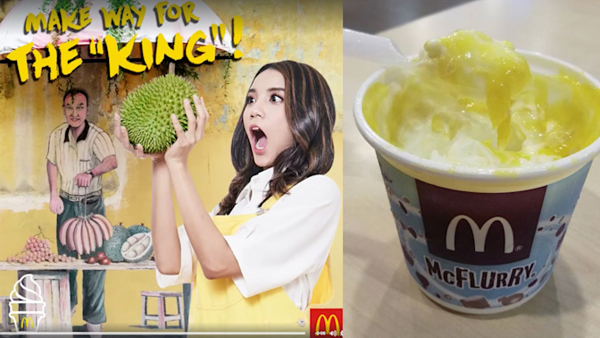 Malaysia is getting a new McFlurry 'with real D24' durian