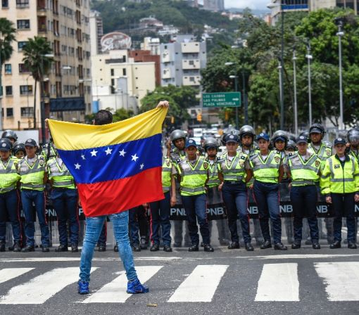 Venezuela police block opposition march for recall vote