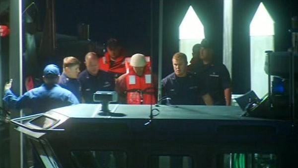 Captain of boat taken into custody after pursuit