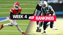 Week 4 Fantasy Football Wide Receiver Rankings