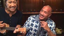 Dwayne Johnson's mom crashes 'Tonight Show' and serenades Jimmy Fallon