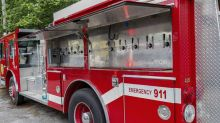 Fire truck converted into a mobile beer tap is A1 upcyling