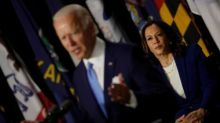 Harris and Biden make first appearance as running mates and excoriate 'failure' Trump
