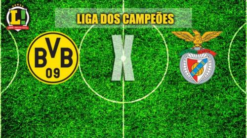 Benfica visita o Dortmund em duelo decisivo das oitavas da Liga dos Campeões