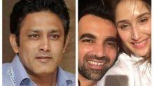 Zaheer Khan and Sagarika Ghatge's engagement news took a funny turn due to Anil Kumble. Read why