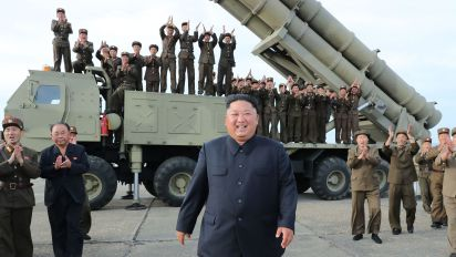 N. Korea tests 'super-large' multiple rocket launcher