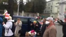 Masked Men Use Tear Gas on Elderly Protesters During Anti-Government Demonstration