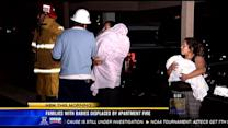 Families displaced after Escondido apartment fire