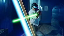 This is the closest you can get to a 'Star Wars'-style lightsaber battle