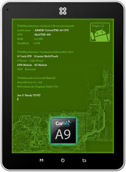 SmartQ announces Ten, an Android tablet packing IPS display with piezoelectric touchscreen