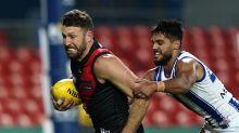Calf injury sidelines Bombers' Hooker