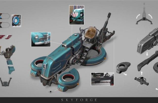 Skyforge teases retro skycar, seeks tester guilds