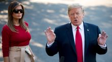 Trump lashes NATO allies as he lands for tense summit