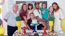 """Piovani e Scooby comemoram aniversário dos gêmeos Bem e Liz: """"O tempo voa"""""""