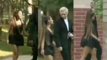 Ariana Grande's 'miniest mini dress' raises eyebrows at Aretha Franklin's funeral