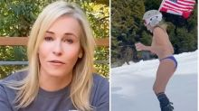 Chelsea Handler skis topless on 46th birthday for a good cause