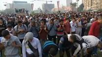 Egypt protests begin with prayers, end in tear gas