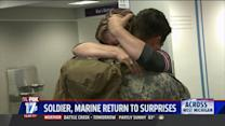 Military Members Return Home To Special Surprises