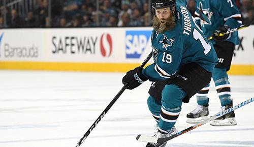 NHL: Playoffs: Thornton mit Kreuz- und Innenbandriss auf dem Eis