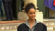 Rihanna visits President Macron in France to support education