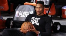 """Russell Westbrook dodges trade request talk, """"Happy about where I'm at"""""""