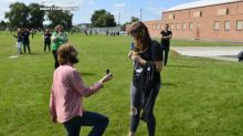 Middle school students turn end-of-school kite flying tradition into marriage proposal for teacher