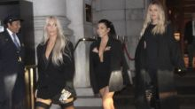 Kim Kardashian Rocks Thigh-High Stockings During Glam Dinner With Kourtney and Khloe: See the Sexy Pic!