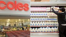 Coles reveals why it's refusing to follow Woolworths in raising milk prices