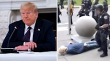 Trump slammed for 'reckless' theory on horrific protest video