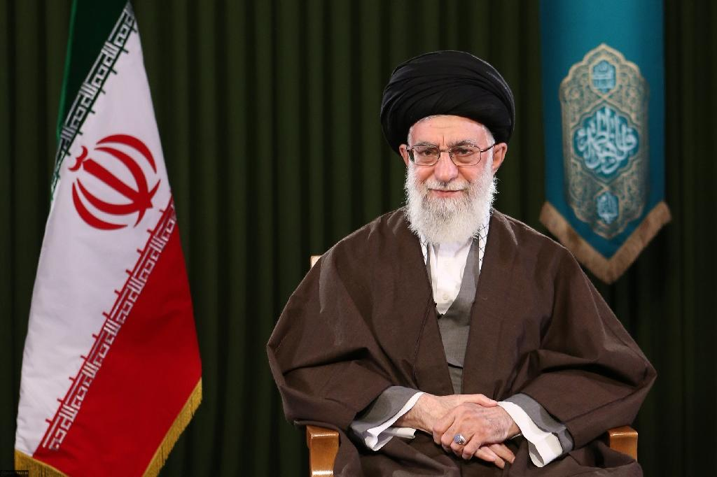 Iranian leader Ayatollah Ali Khamenei issues the annual Nowruz address from Tehran, on March 20, 2017
