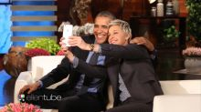 It's an emotional time for Ellen DeGeneres as she says goodbye to President Obama