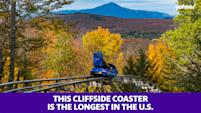 This cliffside coaster is the longest in the U.S.