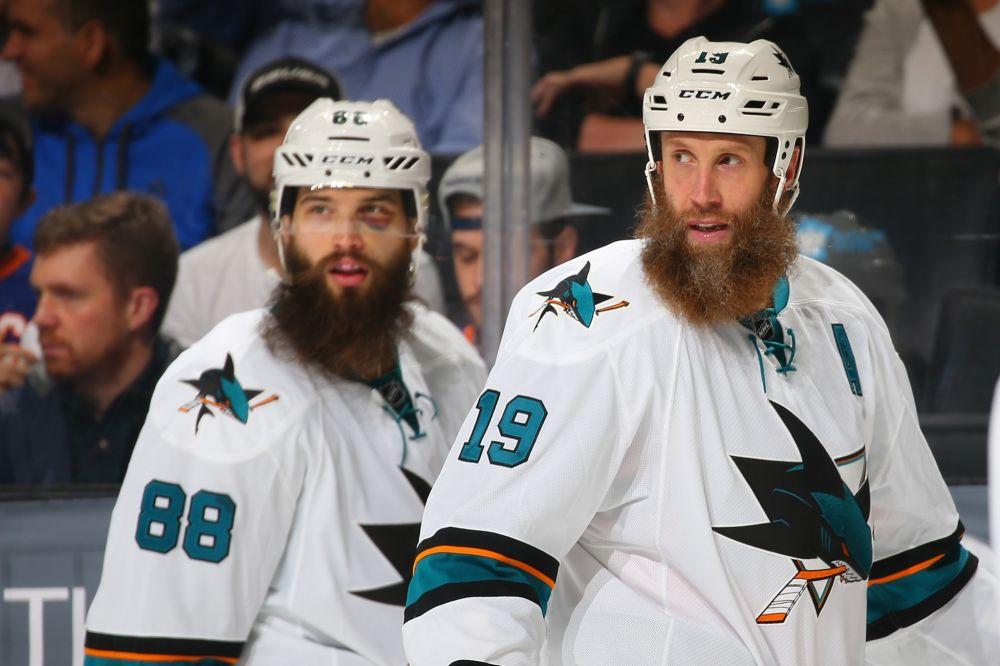 San Jose Sharks stars Joe Thornton and Brent Burns