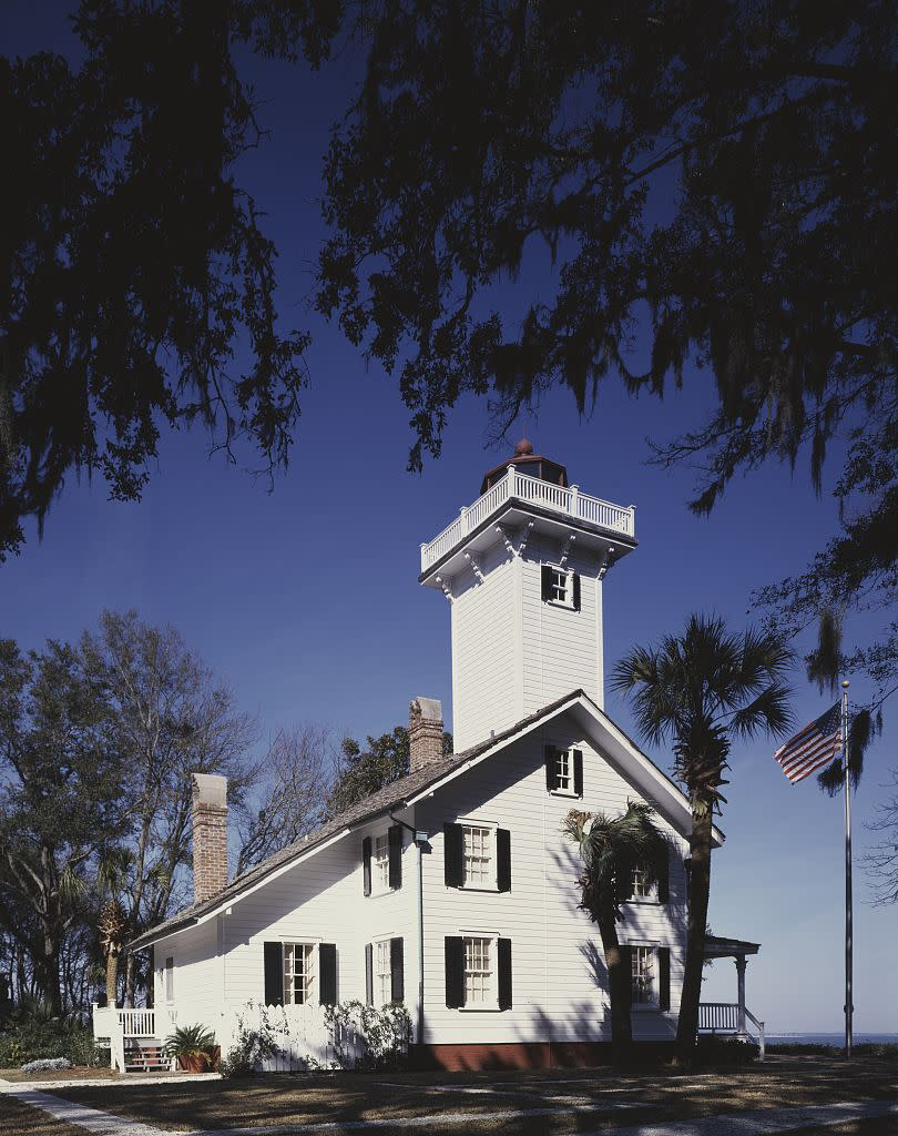 "<p>There may not be a better place to unwind from hectic wedding festivities than on <a href=""http://haigpoint.com/"" rel=""nofollow noopener"" target=""_blank"" data-ylk=""slk:Daufuskie Island"" class=""link rapid-noclick-resp"">Daufuskie Island</a>. Located between Hilton Head, South Carolina, and Savannah, Georgia, the island is only accessible via ferry — and no cars are allowed. Roam around the 5-mile-long retreat, where you'll spot historic buildings before calling it a night at either the Strachan Mansion or the 1873 Lighthouse. Bonus: Meals at both locations are prepared by Jim McLain, a chef who trained at Le Cordon Bleu in France.</p>"