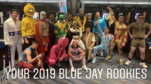 Blue Jays youngsters show up to ballpark, hit Toronto's streets in full costume
