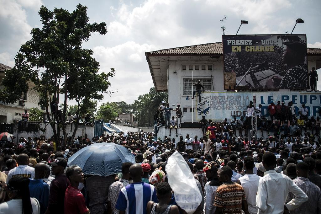 Supporters of Felix Tshisekedi have been celebrating his victory after the release of the official results, despite allegations of a fix from the second-placed candidate (AFP Photo/John WESSELS)