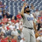 Dodgers clinch tie for NL West, end skid, top Phillies 5-4