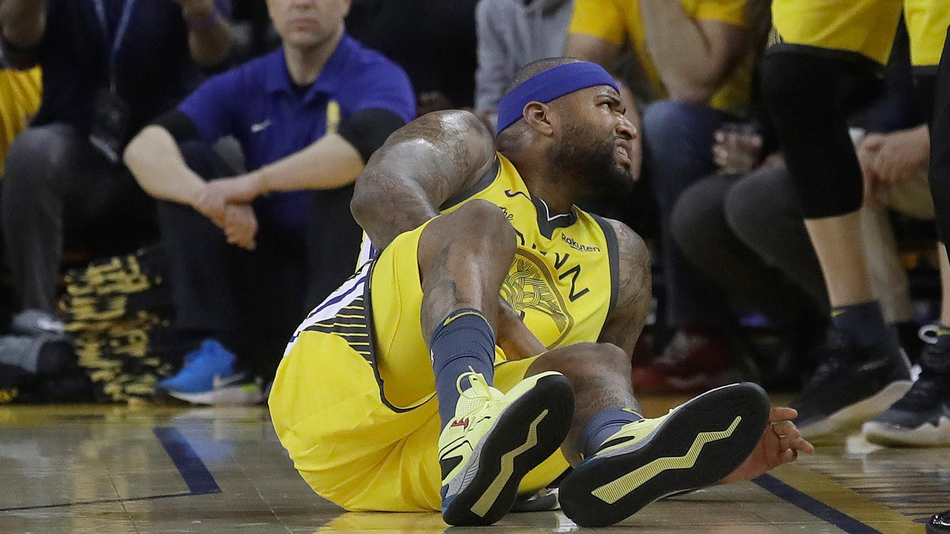 2dbe2a730ec DeMarcus Cousins injury forces Warriors' return to center by committee