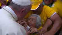 Pope urges hope in visit to Peru area devastated by floods