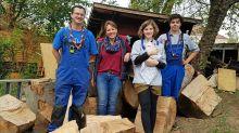 Soziales Projekt : Schippen, streichen und bauen auf der Abenteueroase