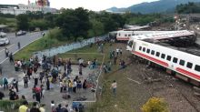 22 dead after train flips in Taiwan