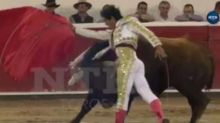 Bullfighter gored mid-fight in Mexico