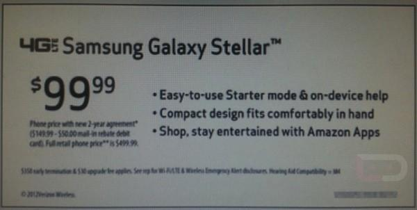 Samsung Galaxy Stellar rumored to hit Verizon for $100, hopes to lure you in with Amazon apps