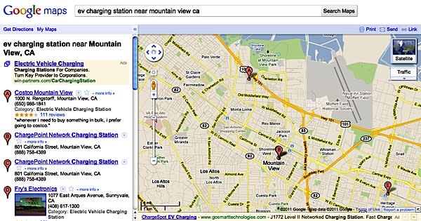 Google adds EV charging stations to Google Maps, but you still have to drive to them yourself