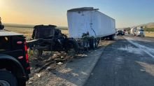 Big rig boxes in alleged DUI driver, leading to fatal pileup on I-5 in California