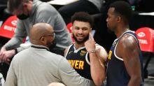 Nuggets' Jamal Murray gets tossed after hitting Mavericks' Tim Hardaway Jr. in groin